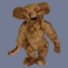 Artist Teddy Bear Mohair Bearly There inc. Linda Spiegel Jointed W/ Tag Boaz Numbered