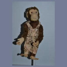 """Old Large Yes No Monkey Schuco Dressed Mohair 17"""" tall"""