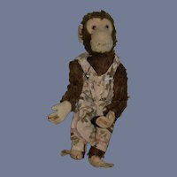 "Old Large Yes No Monkey Schuco Dressed Mohair 17"" tall"