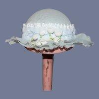 Fancy Doll Artist Bonnet Hat W/ Hat Box By Judith Phelps Charming