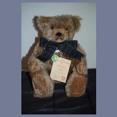 Vintage Hermann Teddy Bear Old Hermann -Coburg Bear W/ Tags Numbered Papers Original Box Jointed Mohair