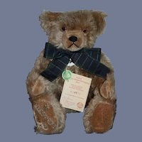 Vintage Hermann Teddy Bear Old Hermann -Coburg Bear W/ Tags Numbered Papers Original Box Jointed Mohair