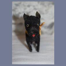 Sweet Black Scottie Scottish Terrier Dog Petite Size for Doll Companion