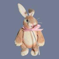 Vintage Miniature Rabbit Doll Jointed Artist Dollhouse Artist April W. Gustafson