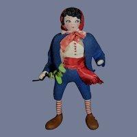 Vintage Cloth Doll Italian Batterson In Original Costume
