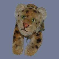 Old Steiff Tiger Stripe W/ Silver Steiff Button Tag
