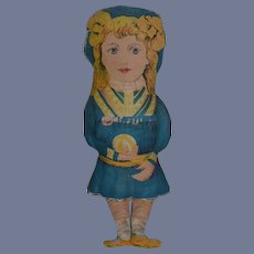 Old Cloth Doll Printed Sweet Charming