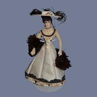 Vintage Dollhouse Lady Doll Fancy Clothes