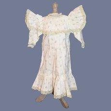 Sweet Doll Dress French Market Floral Lace Trim Vintage
