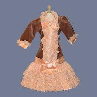 Artist Doll Dress Lace Satin Velvet French Market Drop Waist By Mel