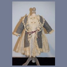 Fancy Hand Mde Vintage Doll Dress Sweet Frenc Market