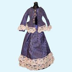 Wonderful Doll Two Piece Skirt Top Fashion Doll Fancy Lace Trim