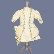 Sweet Artist Made Tafata Doll Dress Drop Waist Pleats Fancy French Market Original Nancy Forester