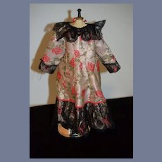 Vintage Doll Dress Lace Trim Hand Made Sweet