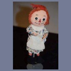 Vintage Raggedy Ann Doll Poseable Bend- Em Knickerbocker Cloth Doll