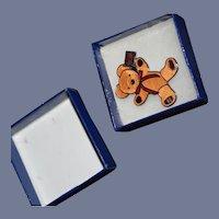 Vintage Enamel Teddy Bear Pin W/ Box MerryThought Limited Ed