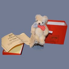 Vintage Teddy Bear Mohair Jointed String Tag Signed W/ Original Box MerryThought