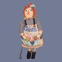 Vintage SET Cloth Raggedy Ann & Raggedy Andy By Fairfield Artist Doll