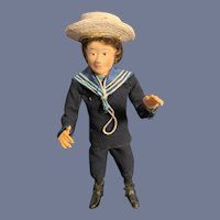 Vintage Doll Sailor Boy Iris Britton Artist Sailor Boy Dollhouse
