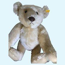 "Gorgeous Steiff Teddy Bear Jointed Button Tag EAN 0157/51 Mohair Big 20"" TALL"