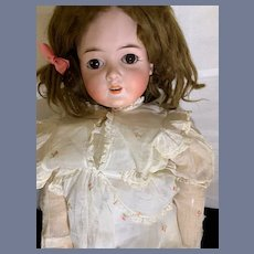 """Antique Doll Bisque Queen Louise Beautiful Armand Marseille 28"""" Tall Sweet"""