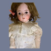 "Antique Doll Bisque Queen Louise Beautiful Armand Marseille 28"" Tall Sweet"