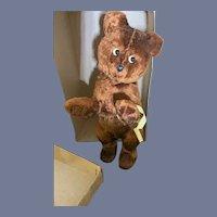 Old Wind Up Teddy Bear In Original Box Working Meabeab So Cute