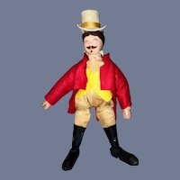 Antique Doll Wood Jointed Schoenut Circus Leader Man