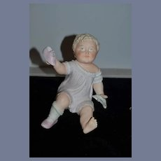 Old Piano Baby Adorable Large Holding Shoe & Sock
