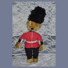 Vintage MerryThought English Teddy Bear English Beefeater Mohair