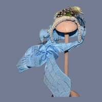 Sweet Vintage Petite Doll Bonnet Rosa's Hat's Especially For you Artist Wonderful Detail French Market