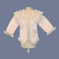 Sweet Doll Jacket Coat French Market Lace Trim Fancy