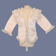 Sweet Doll Jacket Coat French Market Lace Trim Fancy