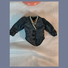 Wonderful Petite Doll Jacket Fashion Doll Hand Made Jet Buttons Silk