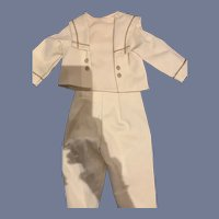 Sweetest Two Piece Boy Doll Outfit Jacket and Pants Flap Collar