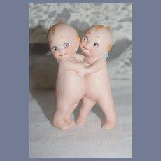 Vintage Sweet Kewpie Huggers Bisque Doll