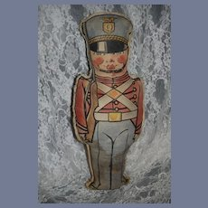 Rare Old Cloth Quaker Puffed Wheat Soldier Doll Advertising