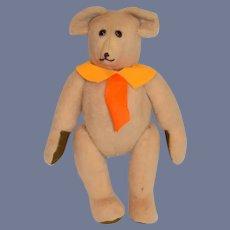 Sweet Vintage Artist Teddy Bear Signed 1984 John ?
