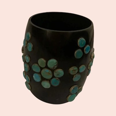 Wonderful Vintage Funky Chunky Turquoise Bangle Cuff