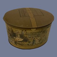 Vintage DOBBS Fifth Avenue Hats Tin Hat Box for Doll