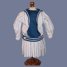 Vintage Doll Sailor Dress Drop Waist Charming