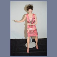 "Vintage Artist Doll Porcelain Signed Roger Akers ""Mille"" Stepping Out"