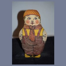 Old Oil Cloth Boy Character Sweet Printed Cloth