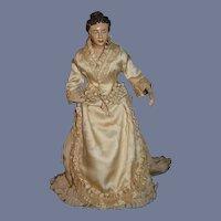Old Sculpted Doll Helen Biggert Large Signed Dressed