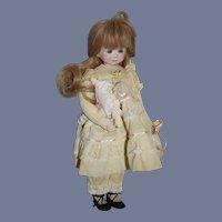 Vintage Doll Dianna Effner Porcelain Doll W/ Rag Doll Sweet