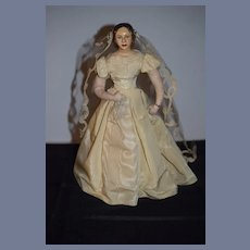 Old Doll Helen Biggert Bride Sculpture Doll Wonderful