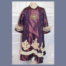 Wonderful Doll Dress Lace Trim Beaded Gorgeous Fancy