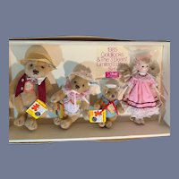 Vintage Suzanne Gibson Goldilocks & The 3 Bears Steiff Limited Edition Signed in Box