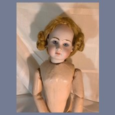 Vintage Doll Mohair Wig Braids on the Side