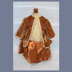 Vintage Doll Dress Hand Made Drop Waist French Market